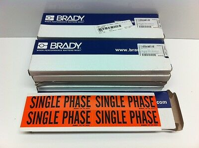 (1100) Nos! Brady Single Phase Conduit & Voltage Labels / Markers 44229