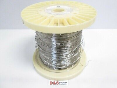"""Fort Wayne Metals 304V Stainless Steel Wire 0.032"""" Diameter Approx. 3,600FT"""