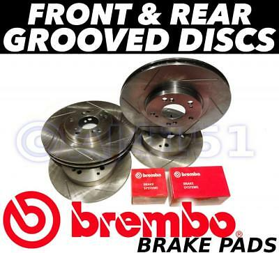Civic TYPE R EP3 2001-05 FRONT & REAR GROOVED Brake Discs & BREMBO Pads Uprated
