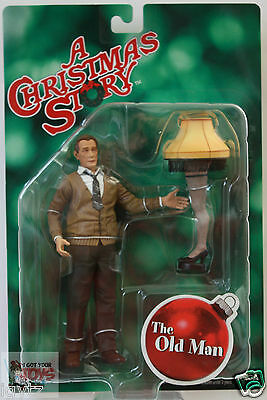 """NECA THE OLD MAN Reel Toys A CHRISTMAS STORY CLASSIC 2010 7"""" INCH ACTION FIGURE"""