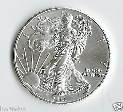 American Eagle 2013 BU - 1 Troy Oz 0.999 Fine Silver - First Strike