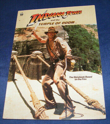 Indiana Jones Temple Of Doom Buch Din A4 Softcover 1984 Viele Fotos Storybook