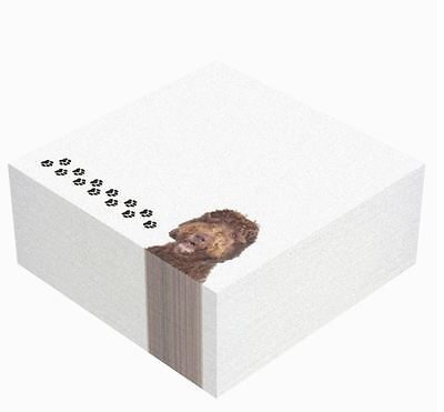Labradoodle Dog Note Pad  Sticky Notes Post It Memo Notepads