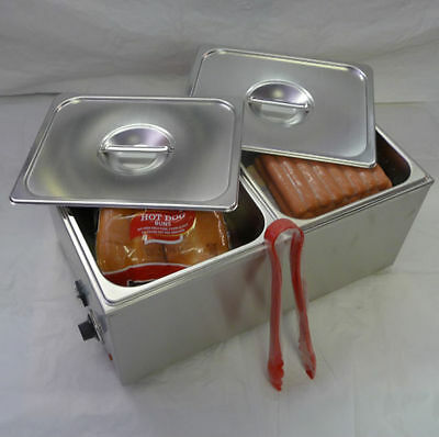 Commercial Hot Dog Steamer & Bun Warmer ETL Listed