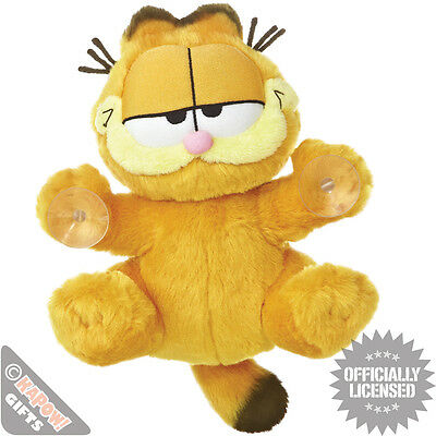 Garfield Stick on Plush toy - Hanging Around Comic Book Character Window Sticker