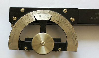 Antiker Messing CLINOMETER INKLINOMETER von STANLEY, LONDON & orig  Leather-Etui