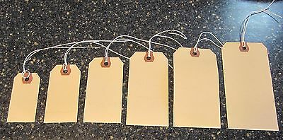 50 Avery Manilla Pre Strung Shipping Hang Tags Scrapbook Inventory String Label
