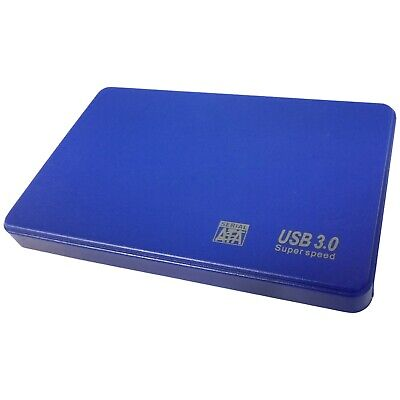 "Blue 2,5"" Sata To Usb Hard Drive Laptop Xbox Caddy Hdd Case Enclosure Uk Stock"