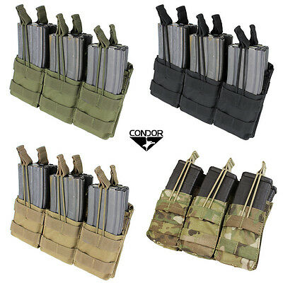 Condor MA44 Molle Triple Stacker Open-Top M4 Mag Pouch All Colors