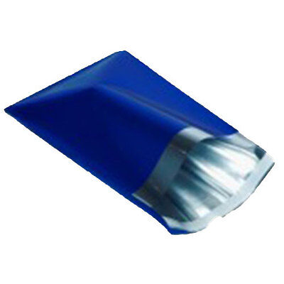 "10 Metallic Blue 6.5""x9"" Foil Mailing Postage Postal Bags"