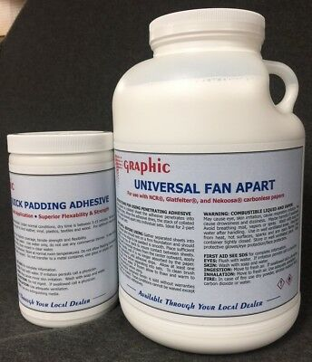 Fan Apart Glue For Carbonless Papers 1 Gal. Plus 1 Quart White Padding Compound