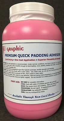Padding Adhesive Red Premium One Coat Quick Drying New 1 Gallon