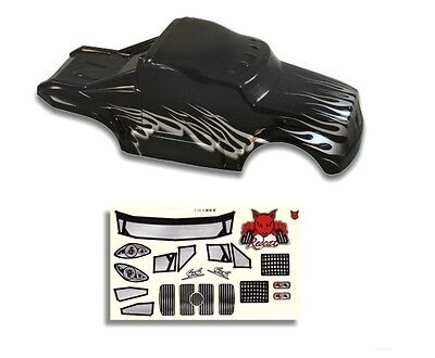 Redcat Racing 1/10 Semi Truck Body Black and Silver with Stickers Part 88035