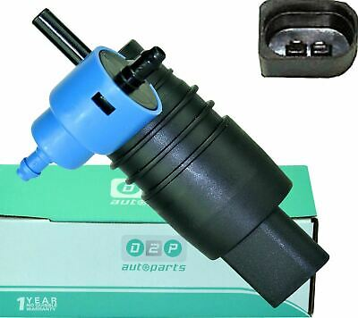 For VW Golf Mk4 (1997-2006) Twin Outlet Windscreen Washer Pump 2048660221