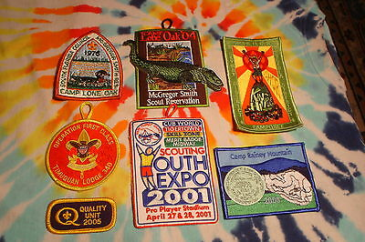 Vintage BSA Boy Scouts Patch Lot of 7 Patches Mix Lot 1976-2006 Look !