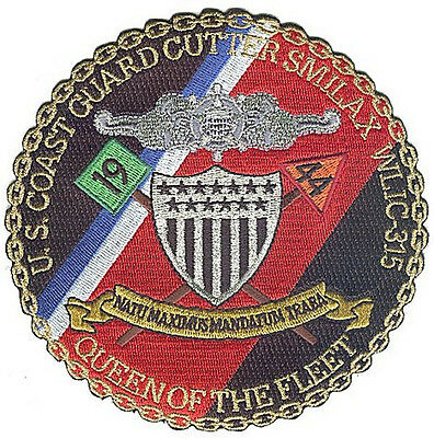 USCGC SMILAX Fort Macon NC Queen of the Fleet W5314 USCG Coast Guard patch