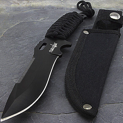 "9"" TACTICAL COMBAT FULL TANG Survival HUNTING KNIFE Bowie Military Fixed Blade"