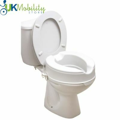 "4"" Raised Toilet Seat Mobility Disability Aid"