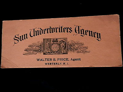 Advertising Blotter SUN UNDERWRITERS AGENCY Walter S Price Westerly, R I