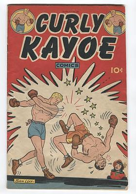 Curly Kayoe Comics #1 Golden Age Boxing, Sam Leff Bio & Art.