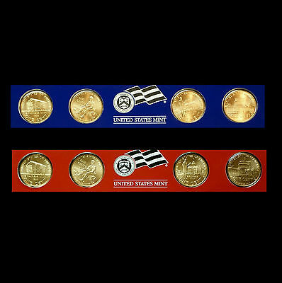 2009 P+D Lincoln Bicentennial Satin Set in U.S. Mint Strips from Mint Set