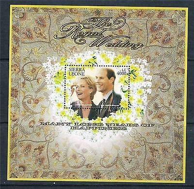 Sierra Leone 1999 Royal Wedding MS3216 MNH