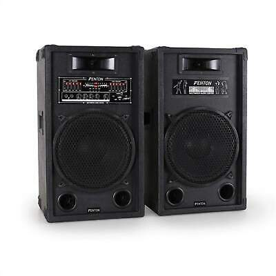 """Enceintes Active Top Pack D Amplifiees Skytec Systeme 30Cm 12"""" Usb Sd Mp3 1200W"""
