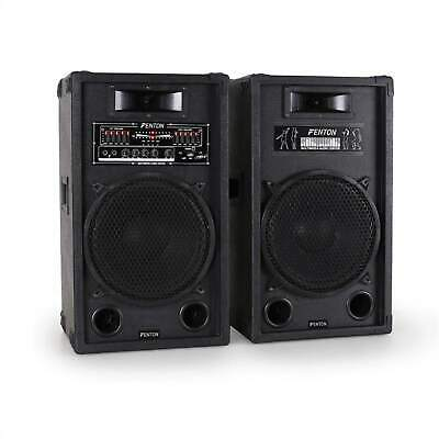 "Top Pack D Enceintes Amplifiees Skytec Systeme Actif 30Cm 12"" Usb Sd Mp3 1200W"