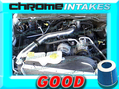 02-10 DODGE RAM\1500\2500\3500 3.7L V6\4.7L\5.7L V8 COLD AIR INTAKE Black Blue