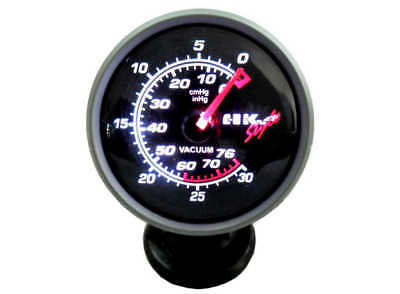 "60mm (2.5"") Car Black Smoke face Vacuum Gauge Meter in cmHg inHg"