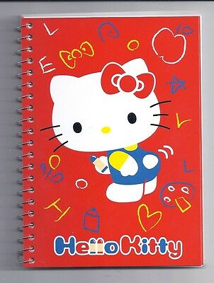 Sanrio Hello Kitty Spiral Notebook Red With Stickers
