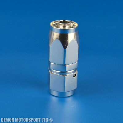 AN -6 (AN6) Straight Polished Silver Hose Fitting For Braided & Nylon Fuel Hose