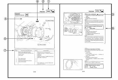 MANUALE OFFICINA YAMAHA YZF-R6(R) 2003 USARE RIPARARE COMPLETO