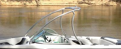INDY Wakeboard Tower PRO with TWIN TOP BAR NO DRILLING TELESCOPIC TOP (SILVER)