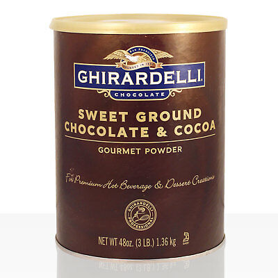 GHIRARDELLI Sweet Ground Chocolate Brown 1,3kg Kakao Trinkschokolade