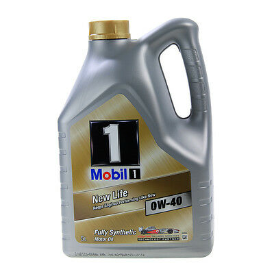 Mobil New Life 0W40 Fully Synthetic Engine Oil 5L VW & Longlife Spec 5 Litre