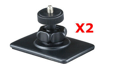 ME-CD x 2: Lot of 2 Sticky Dash mount for compact camera, DV, Driving DVR, Flip