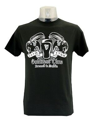 Guinness 2 Toucan Time T-Shirt Black Clothing T Shirt Various Sizes Available