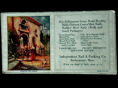 Advertising Blotter INDEPENDENT NAIL & PACKING CO Bridgewater, Massachusetts
