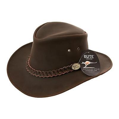 Australian Leather Bush Hat Cowboy Hat 4 Sizes 4 Colours