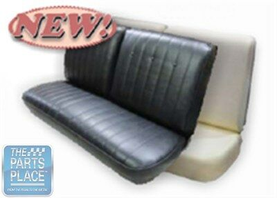 Fantastic 1969 Pontiac Lemans New Front Split Bench Seat Cover Black Machost Co Dining Chair Design Ideas Machostcouk