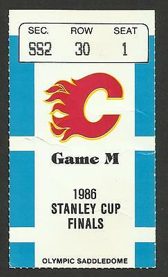1986 NHL STANLEY CUP FINALS GM2 TICKET STUB CALGARY FLAMES vs MONTREAL CANADIENS
