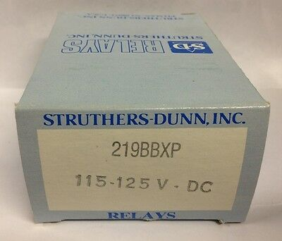 Class 219 Industrial Plug In Relay BBXP 115-125VDC Struthers Dunn MSD NOS