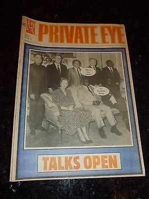 PRIVATE EYE - No 643 - Date 08/08/1986 - Talks Open (UK Paper)