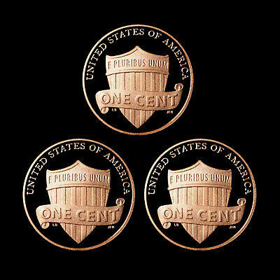 2013 S Lincoln Shield Penny Mint Proof ~ Deep Cameo ~ Set of Three U.S. Coins