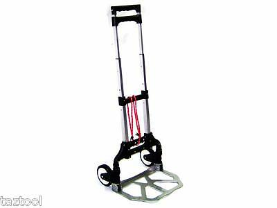 Aluminum Folding Travel  Luggage Cart Hand Dolly Trolley With Wheels Cap 176 Lb