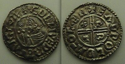 Nice Anglo Saxon, silver Hammered Aethelred II  coin, Voided short cross type.