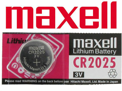 1 Maxell CR2025 Batteries Lithium Battery 3V Button/Coin Cell CR 2025