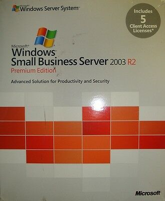 Microsoft Windows Small Business Server SBS 2003 Retail Edition 5 CAL T75-01255