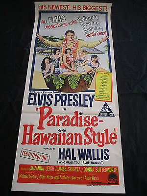 PARADISE HAWAIIAN STYLE original ELVIS PRESLEY stone lithograph movie poster